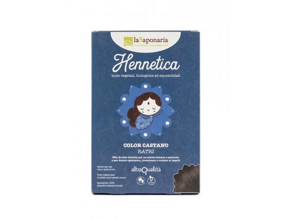 Tinta vegetale castano scuro - Hennetica - Ratri