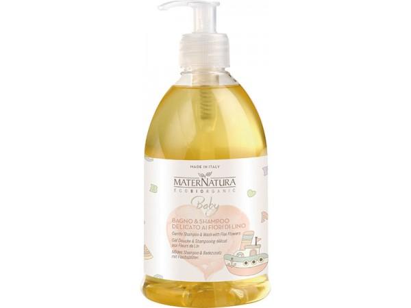 BABY Bagno & Shampoo Delicato ai Fiori di Lino
